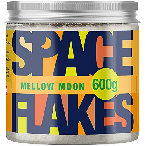 Space Flakes - Meersalz Körperpeeling 600g mit Bio Jojobaöl (Honig-Mandel)