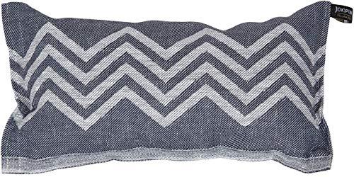 Jokipiin | 1 Saunakissen Lieblingskissen Reisekissen | Design: Peak, blaugrau/weiß | Maße: 40 x 22 cm, Leinen/Baumwolle