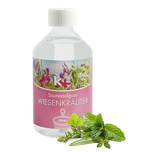 KK Sauna Aufguss Konzentrate PREMIUM - Made in Germany - Duftsorte Wiesenkräuter - 500 ml Flasche