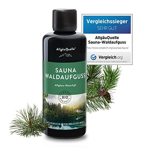 AllgäuQuelle Saunaaufguss mit 100% BIO-Öle Waldaufguss Fichte Latschenkiefer Alpenzirbe Minze