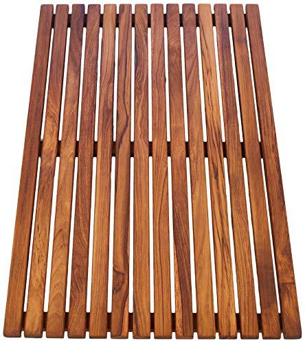 asinox TEK4A5080 Duschmatte aus Teakholz, Rechteck, 80 cm