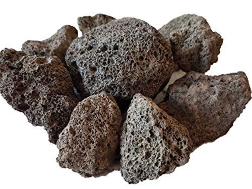 Der Naturstein Garten 100 kg Lava Saunasteine 6-15 cm - Sauna Steine Aufgusssteine