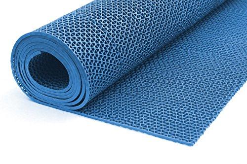 ONPIRA Bodenmatte in 3 Farben Saunaläufer Duschmatte Antirutschmatte Meterware 90 und 120 cm (120cm Blau)