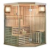 Home Deluxe - Traditionelle Sauna - Skyline XL - Holz: Hemlocktanne - Maße: 150 x 150 x 210 cm - inkl....
