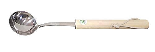 SudoreWell® Saunakelle Sauna Schöpfkelle aus Edelstahl mit Holzgriff
