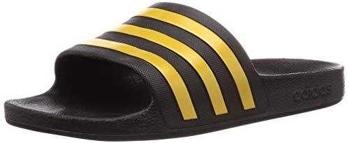 adidas Unisex-Adult Adilette Aqua Sandal, Core Black/Gold Metallic/Core Black, 43 EU