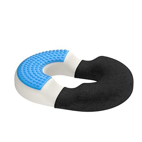 bonmedico Orthopädisches Hämorrhoiden-Sitzkissen mit innovativer Gel-Schicht, Sitzring wirkt schmerzlindernd, auch zur Steißbein-Entlastung für Auto, Sofa, Büro &...