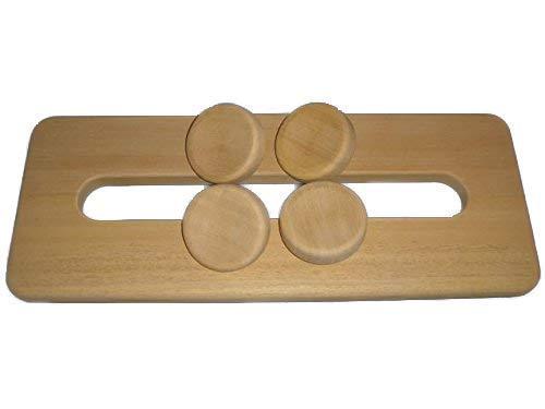 SudoreWell® Sauna Kopfstütze 4-Punkt Espe antirutsch by HaLu + gratis 10g Mentholkristalle