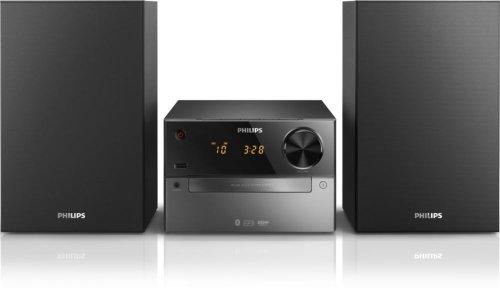 Philips Mini Stereoanlage BTM2310/12 Bluetooth Stereoanlage (Bluetooth, USB Direct, MP3-CD, Audio-Eingang, UKW-Tuner) schwarz