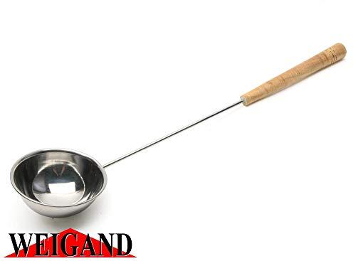 Weigand Saunakelle aus Edelstahl mit Holzgriff ca. 48 cm lang I Liegt gut in der Hand und ist stabil gebaut I...