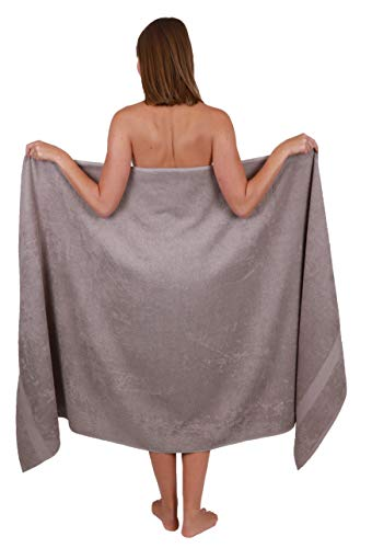 Betz Badetuch groß XXL Größe 100 x 200 cm Badetücher Saunatuch Palermo 100% Baumwolle Farbe Stone