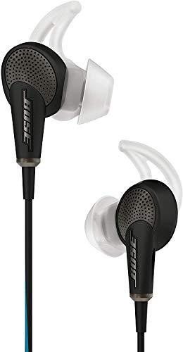 Bose QuietComfort 20 In-Ear-Kopfhörer (Acoustic Noise Cancelling, geeignet für Apple Gerät, 3,5 mm Klinkenstecker, 1,32 m Kabellänge) schwarz