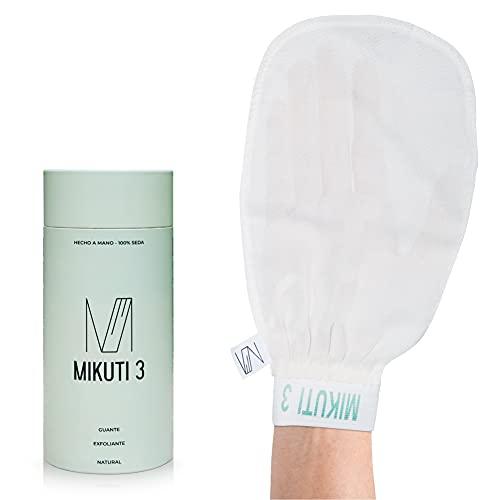 Körperpeeling-Handschuh aus 100% natürlicher Seide - Peeling-Handschuh für Bad und Dusche, beseitigt abgestorbene Zellen, beseitigt Selbstbräuner, reduziert...