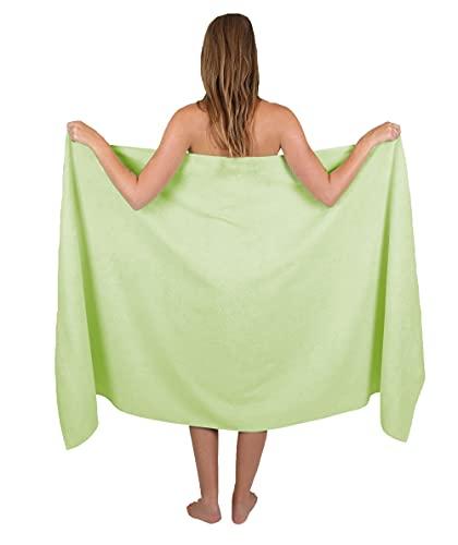Betz Badetuch groß XXL Größe 100 x 200 cm Badetücher Saunatuch Palermo 100% Baumwolle Farbe Grün