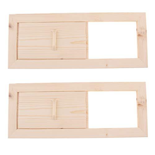 2 Stück Holz Sauna Lüftungsschlitze Lüftungsschlitze Für...