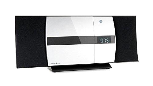 Bennett & Ross Ålesund Vertikal Stereoanlage - HiFi Microanlage mit CD-Player, MP3, UKW-Funktion, USB und Bluetooth mit NFC - Standaufstellung oder Wandmontage -...