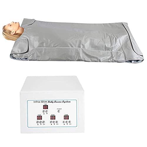 YJF-MRY Infrarot-Saunadecke Mit 3 Unabhängigen Temperaturzonen, Professionelle Detox-Therapie Home Spa Beauty Device Tragbare Sauna, Für Die Persönliche...