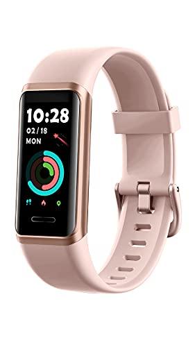 YAMAY Fitnessuhr für Damen Herren,1.05 Zoll Touch-Farbdisplay Fitness Tracker,Smartwatch mit Alexa Integriert,Pulsoximeter,Pulsuhr,Personalisiert...