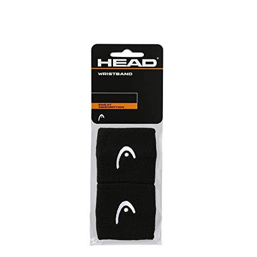 HEAD Unisex-Erwachsene 2,5 Schweißband, schwarz,...