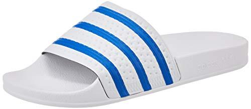 adidas Herren Adilette Gymnastikschuh, FTWR White Glory Blue FTWR White, 43 EU