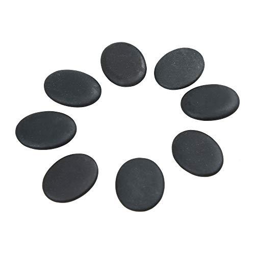 Windfulogo 8 Stk. Professionelle kleine Massage Heiß Massagesteine Hot Stone Set Natürliche Lava beheizte Steine Basaltwärmer Rock für Spa, Massagetherapie 1,18 x 1,57 x...