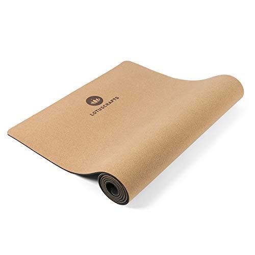 Lotuscrafts Yogamatte Cork - Rutschfeste Sweat Proof...