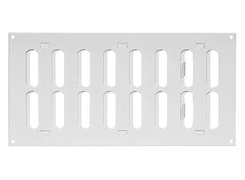 300x150mm Schiebegitter aus Stahlblech - Weiß...