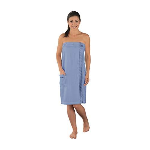 Schiesser Damen Saunakilt Rom Plus Size, Farbe:hellblau