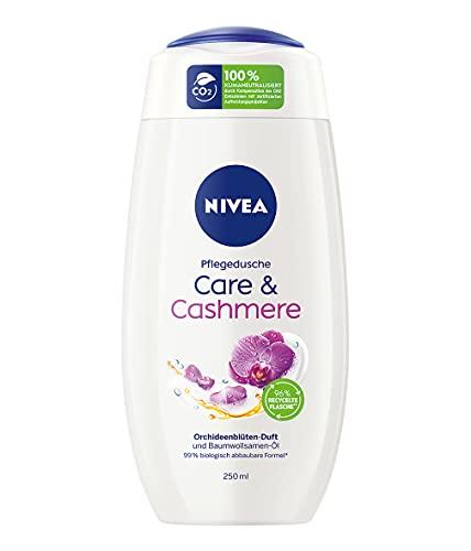 NIVEA Care & Cashmere Pflegedusche (250 ml), sinnlich duftendes Duschgel mit samtweichem Schaum, reichhaltige Cremedusche mit Baumwollsamen-Öl