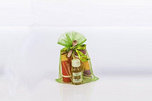 Sauna-Geschenkset für Frauen (Honigcremes 'Lavendel' und 'wilde Rose' & Aufgusskonzentrat) | Beatyset in der Geschenkverpackung | 100% natürlich