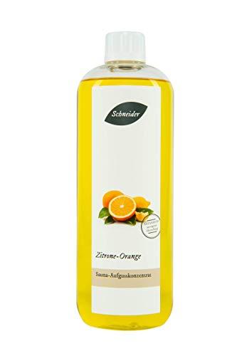 Saunabedarf Schneider - Aufgusskonzentrat, Saunaaufguss Zitrone Orange 1000ml