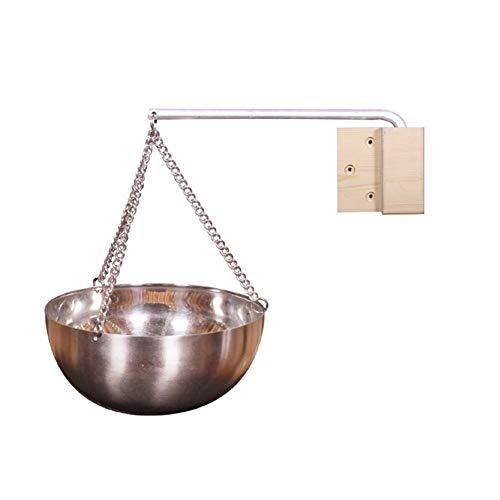 monstera Edelstahl-Saunaschüssel Aromaöl-Tasse für die Sauna Duftdiffusor für ätherische Öle Für Sauna und Spa Saunazubehör