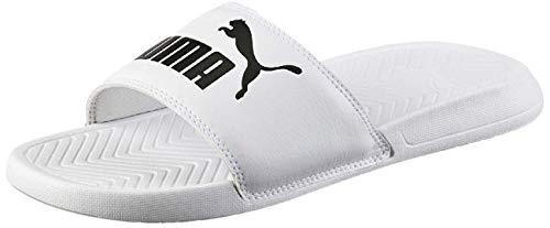Puma Herren Popcat Zapatos de playa y piscina, Weiß White Black, 46 EU