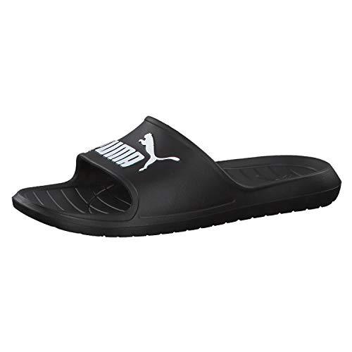 Puma Unisex-Erwachsene Divecat v2 Zapatos de Playa y Piscina, Schwarz Black White, 43 EU