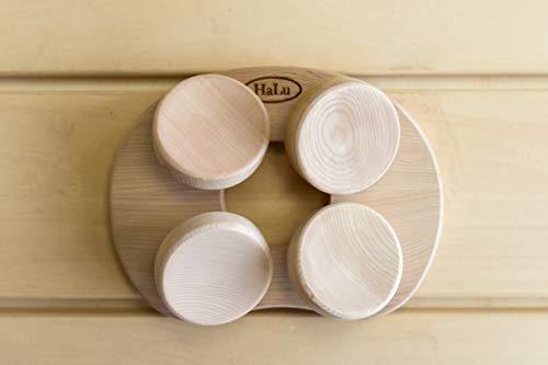 Sauna Kissen Kopfstütze ergonomisch perfekt für jeden Kopf - Red Cedar