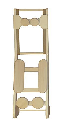 HaLu BV Sauna-Rückenlehne ergonomisch mit Kopfstütze, Espe naturbelassen