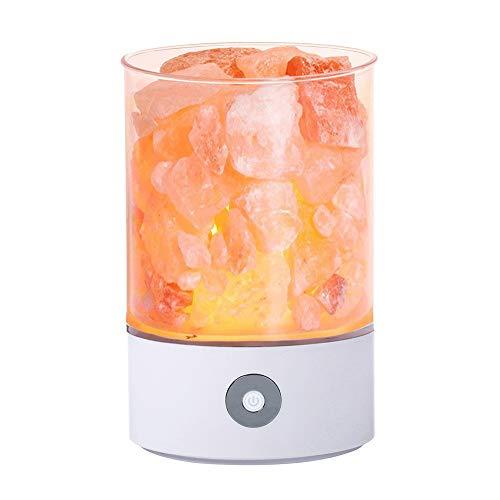 TOMNEW natürliche Salzlampe, USB rosa Salzkristall Rock Lampe ist gut für die Gesundheit kleine mineralische negative Ionen Stein Lavasalz Nachtlicht, im Schlafzimmer...