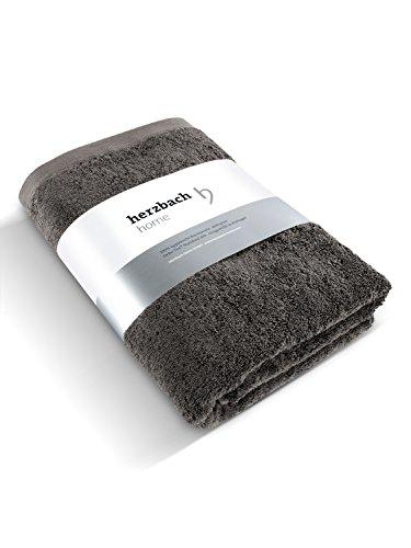 herzbach home Luxus Saunatuch Handtuch Premium Qualität aus 100% ägyptischer Baumwolle 85 x 200 cm 600 g/m² (Sandgrau)