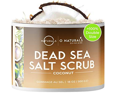 Dead Sea Scrub, Gegen Cellulite Coconut Peeling für Gesicht Fuß und Körperpeeling mit Vanilla Feuchtigkeitsspendend Eingewachsene Haare Körner Totes Meer Salz Dead Skin...