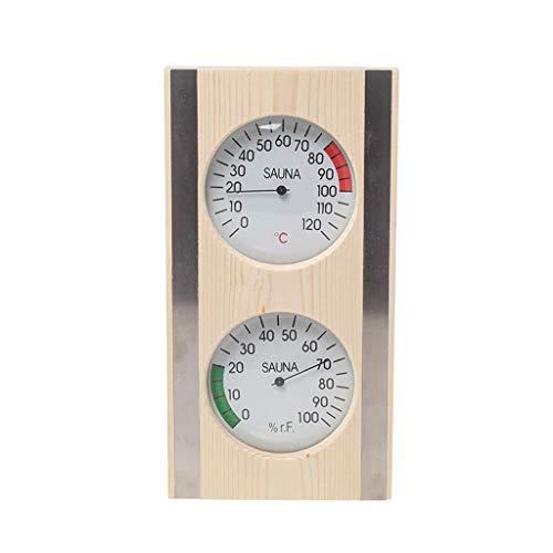 MagiDeal Holz Sauna Hygrothermograph Thermometer Hygrometer 2 in 1 Indoor Feuchtigkeit Temperatur Messung Sauna Ausrüstung Sauna Zubehör