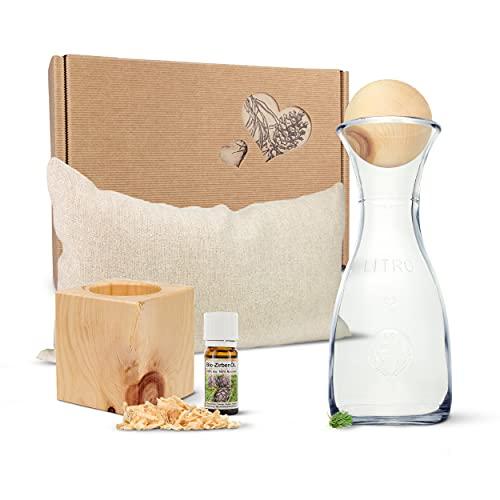 Zirben Erlebnis-Geschenksbox Nr.3: Bio-Zirbenkissen...