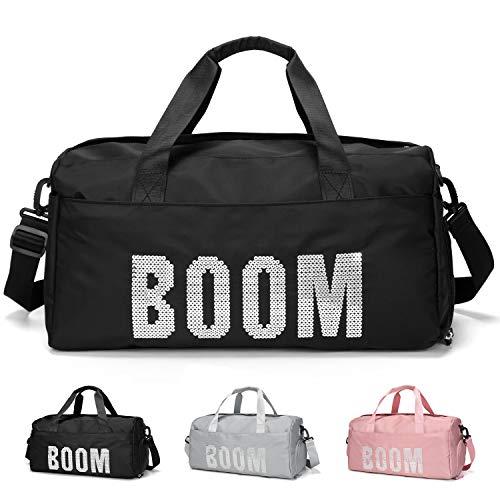 FEDUAN original Boom Sporttasche mit Schuhfach und Nassfach Reisetasche modisch wasserdicht Damen Herren Yoga Strand Freizeit Sauna-Tasche Gym-Tasche Shopping-Bag Weekender...