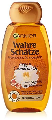 Garnier Shampoo, intensive Haarpflege bis in die Spitzen, für mehr Glanz & Geschmeidigkeit, mit Argan-Öl & Camelia-Öl, für trockenes Haar, ohne Parabene, Wahre Schätze, 1...