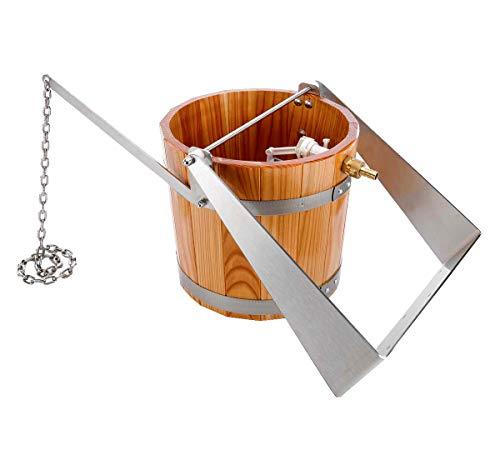 eliga Schwalleimer aus Holz mit Haltebügel