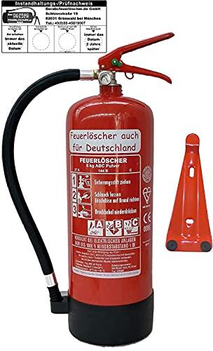Feuerlöscher 6kg ABC Pulverlöscher mit Manometer EN 3 ,...