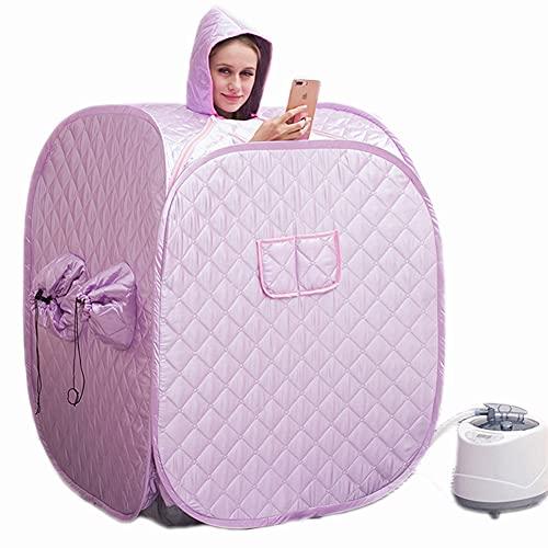 XWZ Dampfsauna Nach Hause, Tragbare Heizung Sauna Box, Nach Hause Dampf Sauna Box Dampfer Heizung Bad Duschraum Komplettset Set SPA Sauna Box