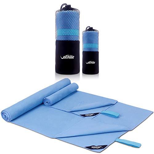 Mikrofaser Reisehandtuch 2 Stück(1 Badetuch 152x80 cm & 1 Hand Gesichtshandtuch - 80x38 cm),Schneller trocknender, saugfähiger Travel Handtuch für Sport, Backpacking,...
