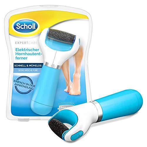 Scholl Expert Care, Hornhaut Entfernung für seidig weiche Füße, elektrischer Hornhautentferner schnell & Mühelos (mit Meeresmineralien Rolle für präzise Ergebnisse, 1...