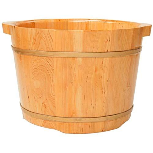 ZHANG Fußbad Barrel Robuste und Langlebige Sauna-Fußwanne aus Natürlichem Zedernholz