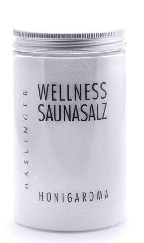 Lashuma Wellness Sauna Salz Honigaroma, Peelingsalz für die Sauna, 450 g